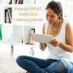 50 zł za skuteczne polecenie konta w Credit Agricole. Łącznie do 500 zł premii.