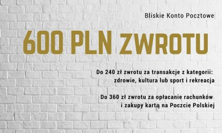 Moneyback: Do 600 zł zwrotu z Bliskim Kontem Pocztowym