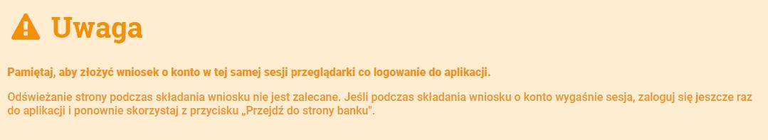 mbank komunikat